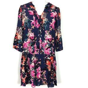 Anthropologie // Maeve sz XS navy floral dress